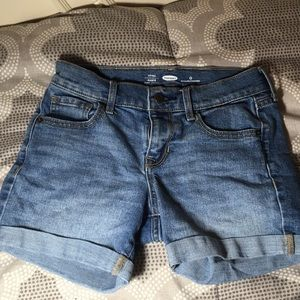Old navy blue distressed jean shorts